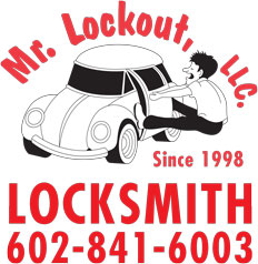 Mr LockOut Locksmith Logo