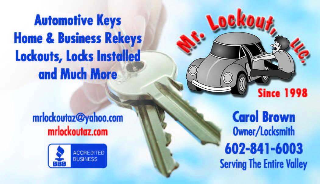 Mr Lockout Business Card - Locksmith|Glendale AZ|Phoenix|Car|Cheap ...
